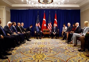 Erdoğan-Trump ile bir araya geldi