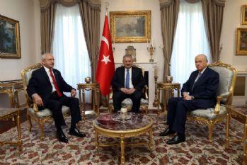 Yıldırım, Kılıçdaroğlu ve Bahçeli bir araya geldi