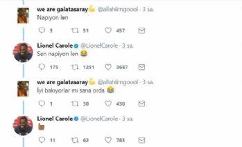 Carole'le Galatasaray taraftarının güldüren diyalogu