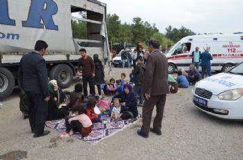 Tırda 214 göçmen yakalandı