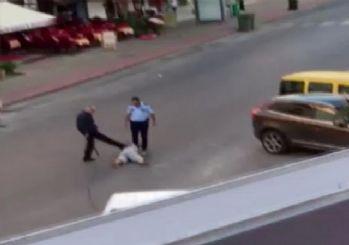 Polis dehşeti kamerada
