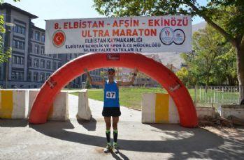 Elbistan Ultra Maratonu sona erdi: 5 saat 44 dakikada koştu