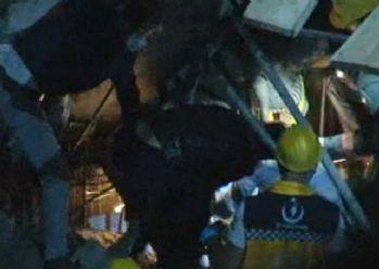 Şişli'de otel inşaatında çökme: 1 yaralı