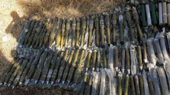 Çok sayıda roketatar mühimmatı ele geçirildi