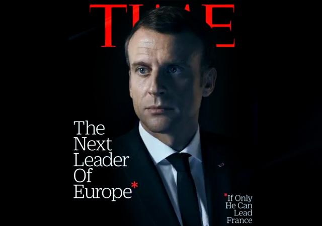 Time Macron'u ti'ye aldı: Avrupa'nın bir sonraki lideri ama önce...