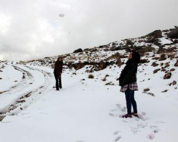 Erzurum'un yüksekleri beyaza büründü