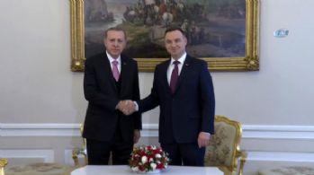 Erdoğan Polonyalı mevkidaşı Duda ile görüştü