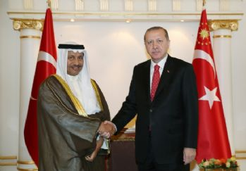 Erdoğan görüşmelere başladı