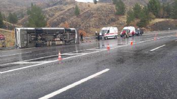 Elazığ'da feci kaza: 1 ölü, 30 yaralı