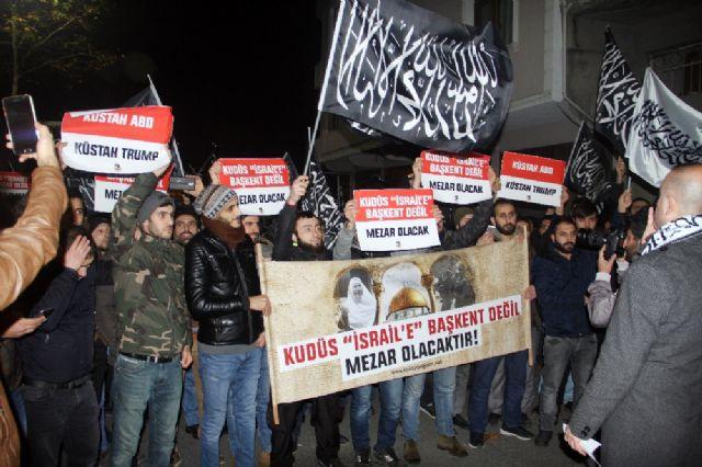 İstanbul ABD Konsolosluğu önünde Kudüs eylemi
