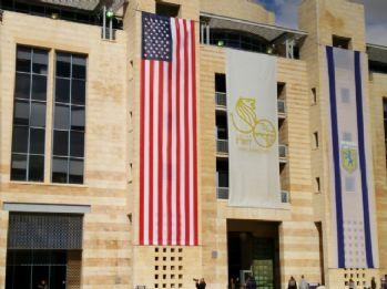 Kudüs belediye binasına ABD bayrağı asıldı