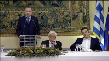 Cumhurbaşkanı Erdoğan, onuruna verilen yemekte konuştu