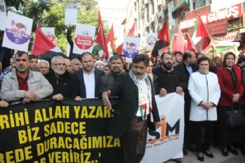 Adana'da 'Kudüs' protestosu