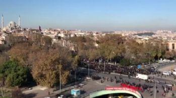 Saraçhane'de binlerce kişi Kudüs için bir arada