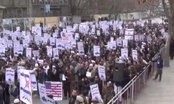 Afganistan'da Trump karşıtı protesto