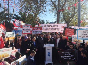 Eyüpsultan'da 'Kudüs' protestosu