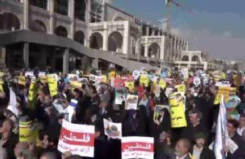Binlerden Kudüs protestosu