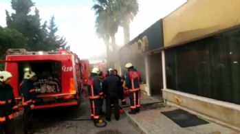 Spor salonunun sauna kısmında yangın