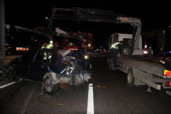 E-5'te feci kaza: 1 ölü, 4 yaralı