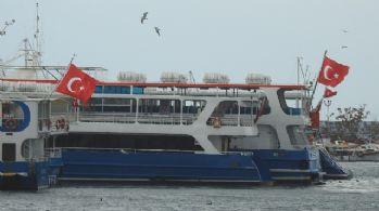 Lodos deniz ulaşımını aksattı