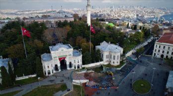 Beyazıt Meydanındaki çalışma havadan görüntülendi