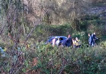 Beykoz'da lüks araç uçuruma yuvarlandı: 1 ölü
