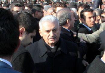 Başbakan cenaze töreninde