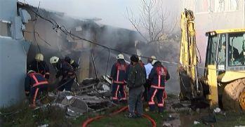 Koli fabrikasında yangın