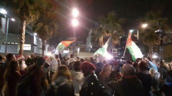 Tel Aviv'de ABD Büyükelçiliği önünde protesto