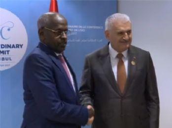 Yıldırım, Cibuti Başbakanı Muhammed ile görüştü