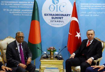 Erdoğan, Bangladeş Cumhurbaşkanı Hamid ile görüştü