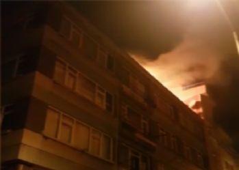 Şişli'de yangın paniğe neden oldu