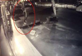Saldırganın filmleri aratmayan kaçışı kamerada