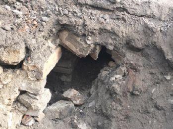 Tretuar çalışmasında Osmanlı dönemine ait yapı bulundu