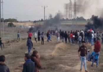 İsrail askerleri gerçek mermi kullandı: 1 şehit, 96 yaralı