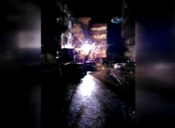 Elektrik direğindeki patlamalar paniğe yol açtı
