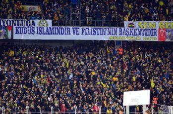 Fenerbahçe tribünlerinden Kudüs'e destek