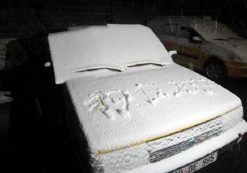Trakya'nın yüksek kesimlerinde kar yağışı başladı