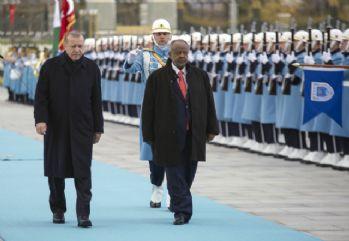 Cibuti Cumhurbaşkanı Beştepe'de