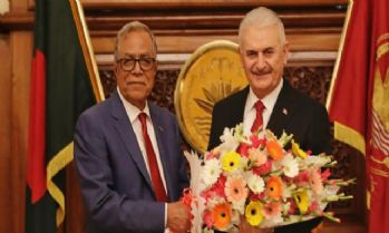 Bangladeş Cumhurbaşkanı Abdul Hamid ile görüştü