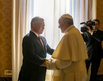 Ürdün Kralı II. Abdullah, Papa ile bir araya geldi