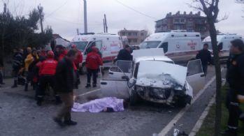 Balıkesir'de trafik kazası: 2 ölü, 4 yaralı