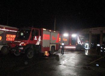 Beykoz'da itfaiye istasyonunda yangın