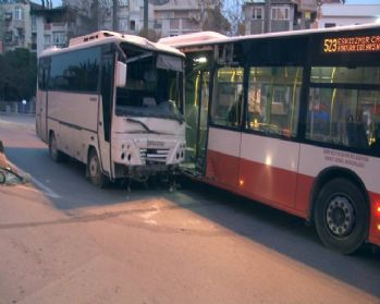 Minibüs önce 2 otomobile sonra otobüse çarptı: 13 yaralı