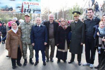 Asker ailelerine çorbalı karşılama
