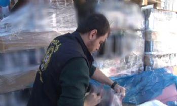 Polisten 1 milyon liralık sahte içki operasyonu