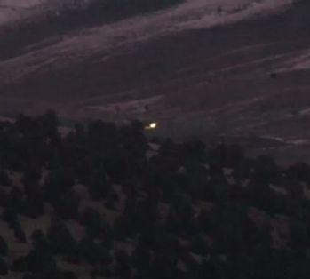 Askeri uçağın düştüğü yer havadan görüntülendi