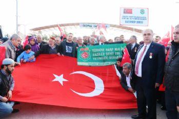 Şehit ailelerinden Zeytin Dalı Harekatına destek