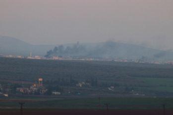 Afrin'deki Cinderese'den dumanlar yükseliyor