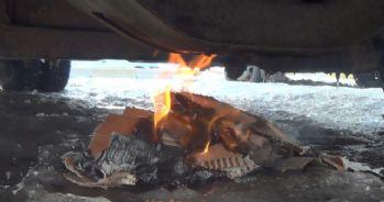 Ağrı'da araçların mazot depoları bile dondu
